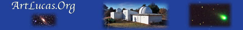 Header Image Showing Bluebird Observatories, M31, and a Comet